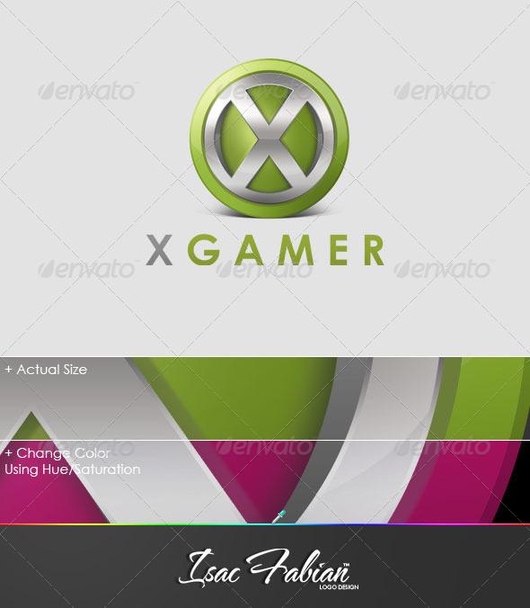 X Gamer Logo Template - Symbols Logo Templates