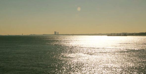 Istanbul Bosphorus Evening Sun
