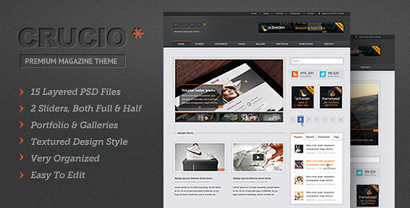 ThemeForest Crucio PSD 2488957