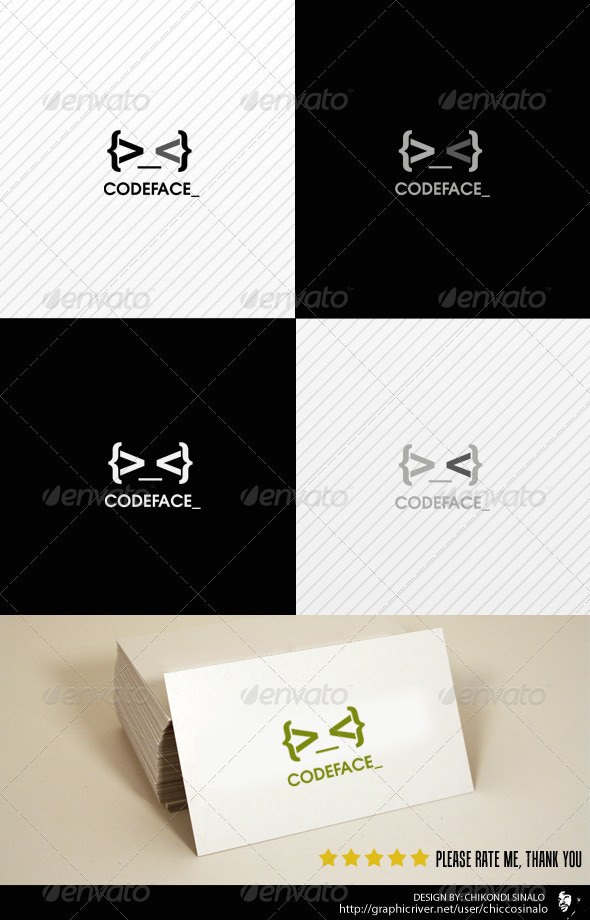 Code Face Logo Template - Abstract Logo Templates
