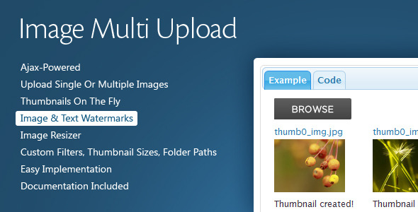 Image Multi Upload - CodeCanyon Item for Sale