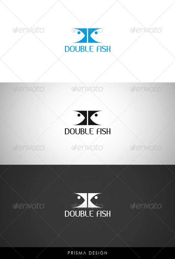 Double Fish Logo - Animals Logo Templates