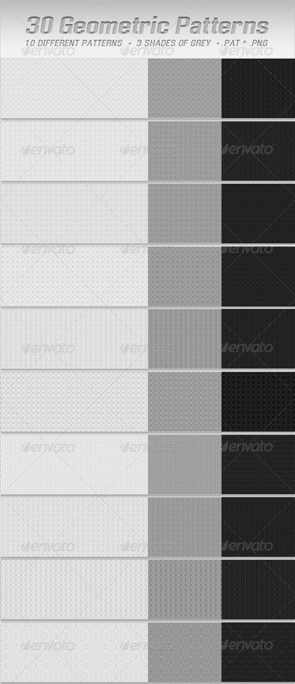GraphicRiver Geometric Pixel Photoshop Patterns 2494668