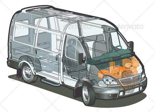Delivery Van Cutaway