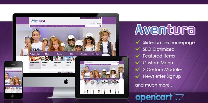 Aventura OpenCart - eCommerce Theme