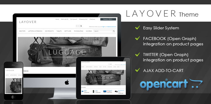 Layover OpenCart
