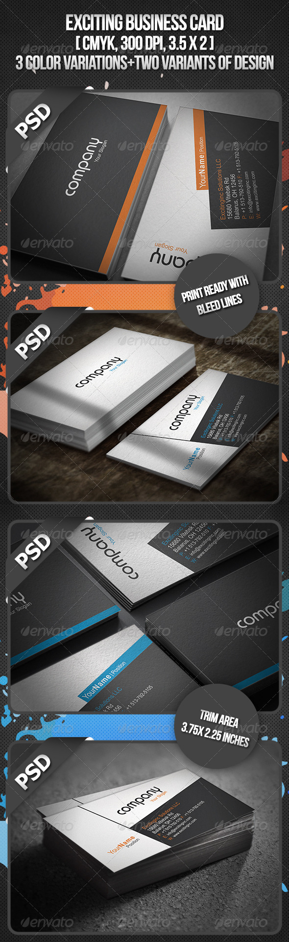 Exciting Business Card - Creative Business Cards