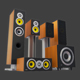 Home Theater - Speakers Pack - 3DOcean Item for Sale