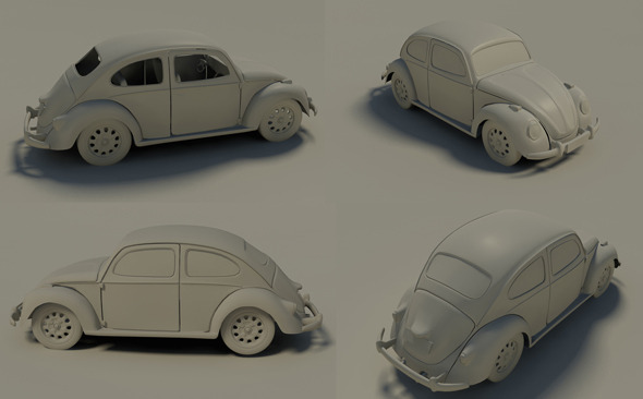 VW BEETLE - 3DOcean Item for Sale