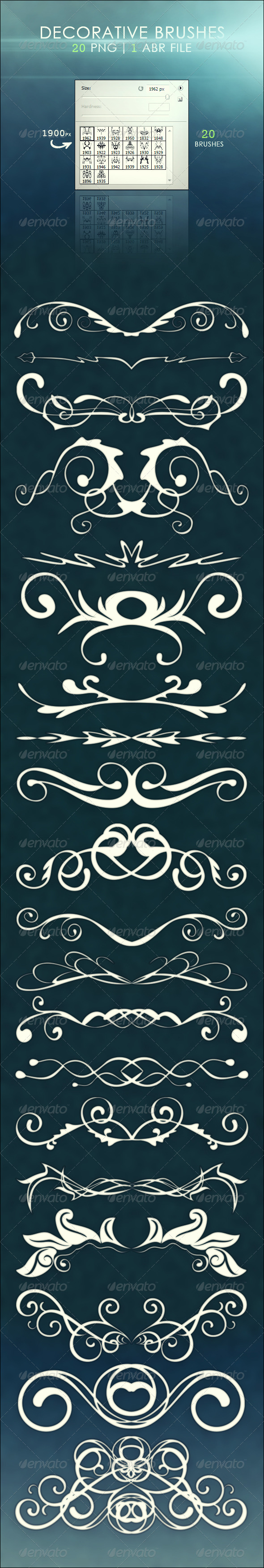 Decorative Brushes - Flourishes Brushes