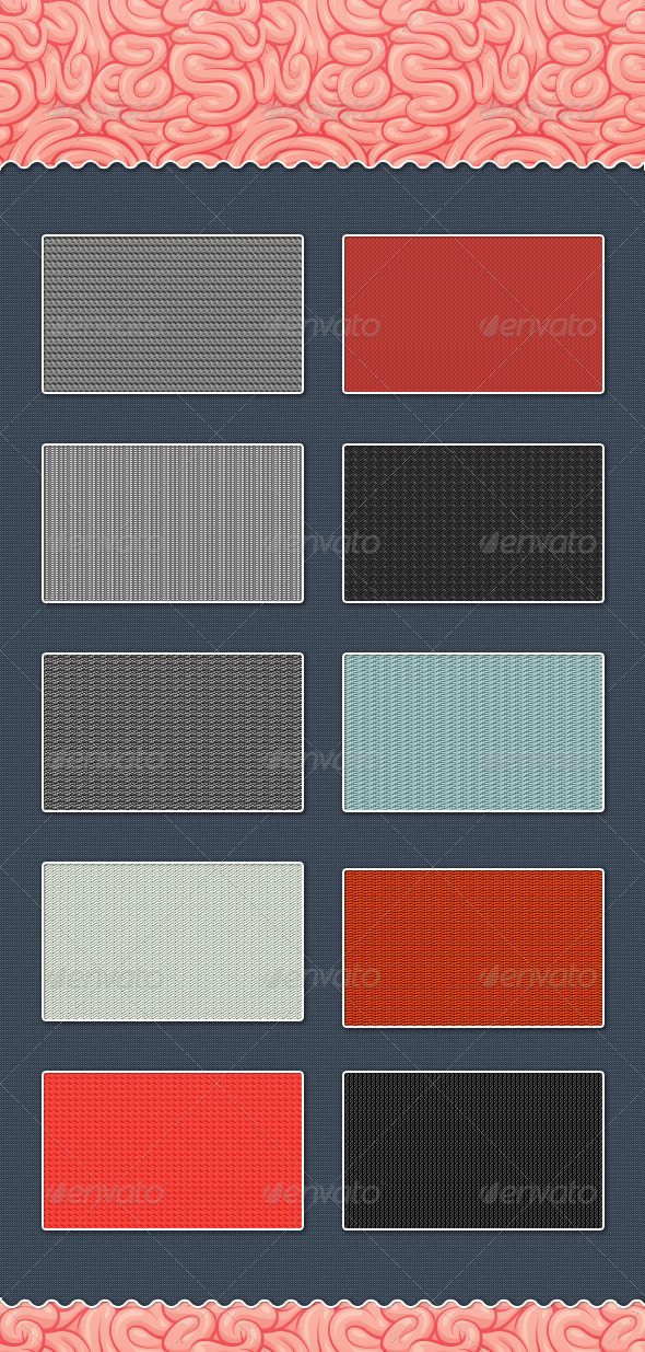 Awesome Fabric Patterns (.pat+.png+.psd)  - Textures / Fills / Patterns Photoshop