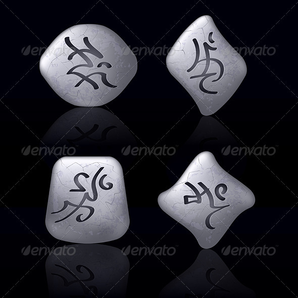 Runic Stones - Objects Vectors