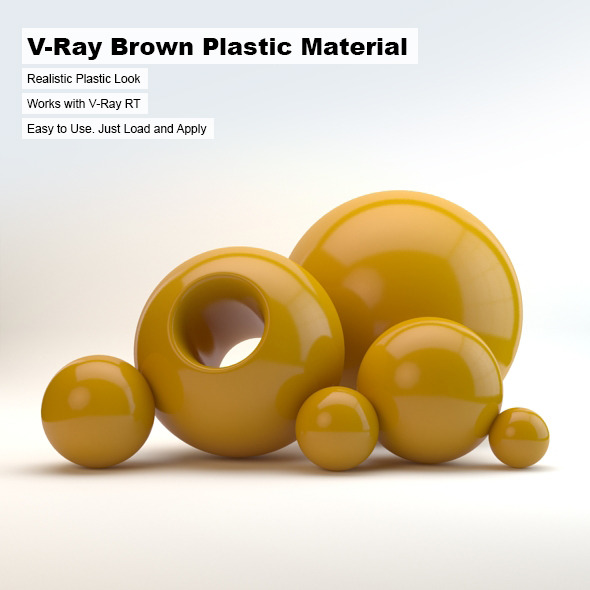 3DOcean V-Ray Brown Plastic Material 2498734