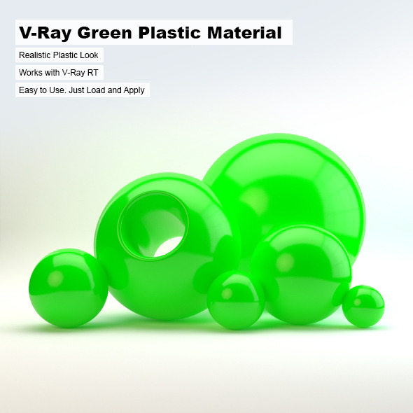 3DOcean V-Ray Green Plastic Material 2498735