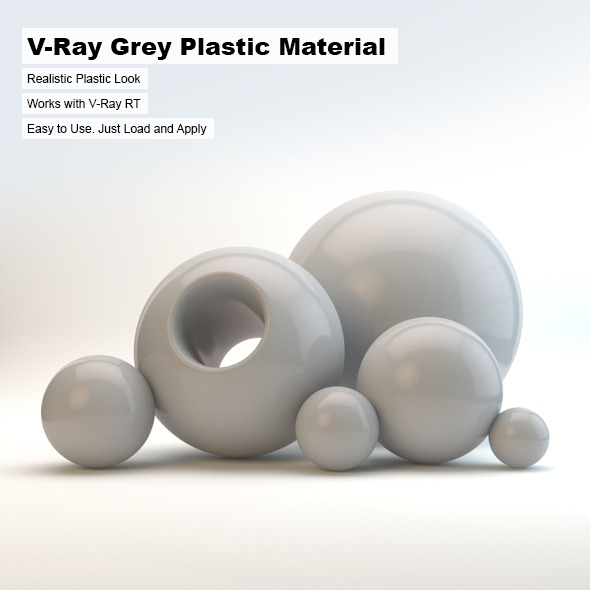 3DOcean V-Ray Grey Plastic Material 2498738