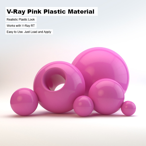 3DOcean V-Ray Pink Plastic Material 2498743
