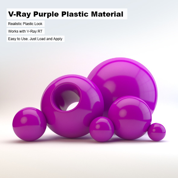 3DOcean V-Ray Purple Plastic Material 2498747