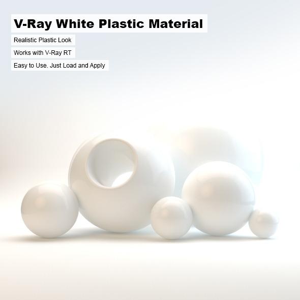 3DOcean V-Ray White Plastic Material 2498750