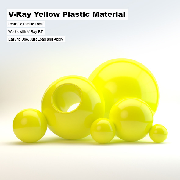 3DOcean V-Ray Yellow Plastic Material 2498753