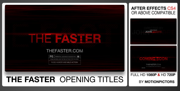 After Effects Project - VideoHive The Faster 2498820