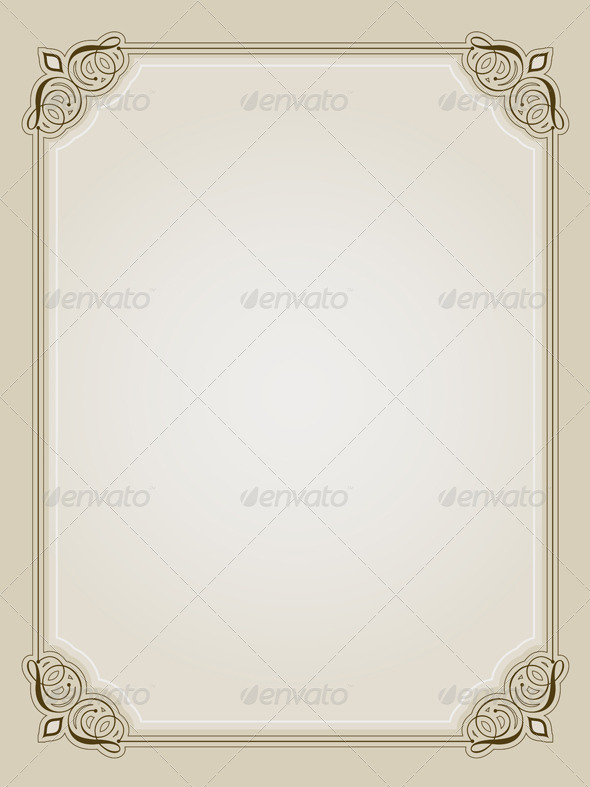 Ornate Border - Borders Decorative