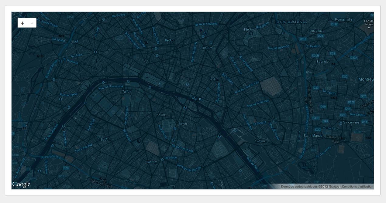 Google themes blue - 5 Color Themes For Google Maps Api
