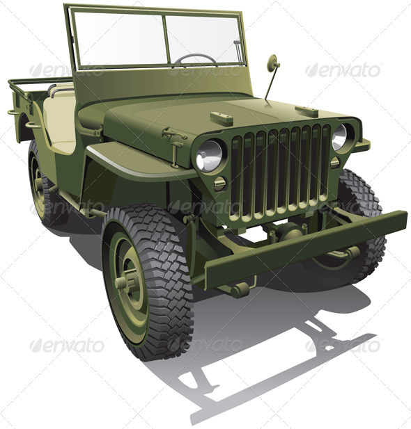 Army Jeep - Objects Vectors