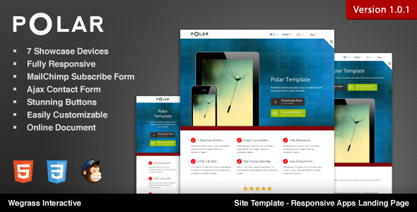 ThemeForest Polar Responsive Apps Landing Page 2473369
