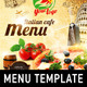 Italian Menu Template - GraphicRiver Item for Sale