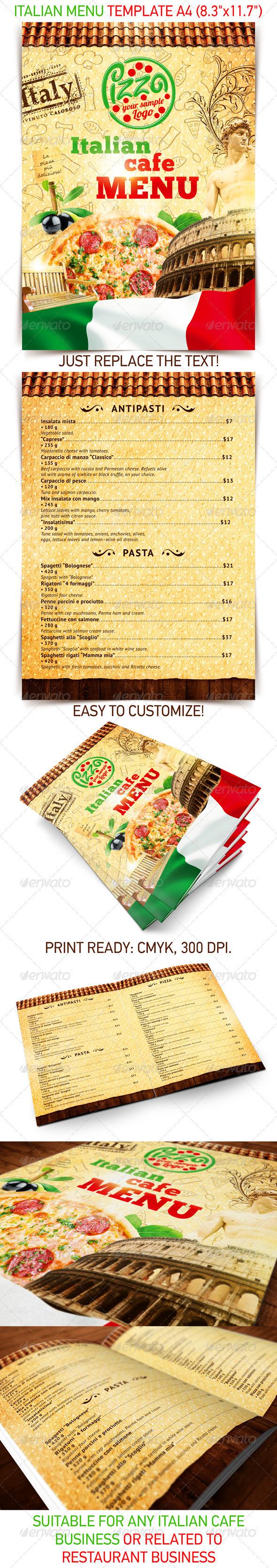 GraphicRiver Italian menu template 2502533
