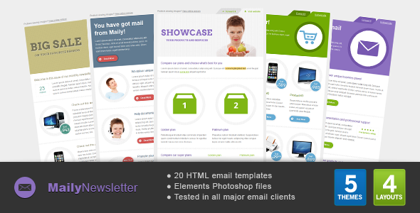 Maily Newsletter - Newsletters Email Templates