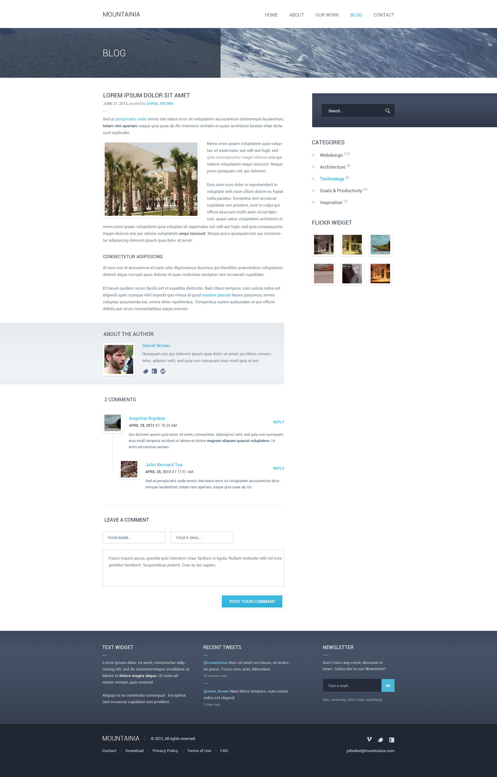 Mountainia Theme HTML