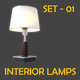 Interior Lamps - Set - 01 - 3DOcean Item for Sale