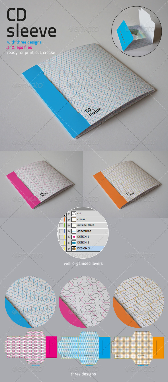 Cd sleeve graphicriver for Cd sleeve printing template