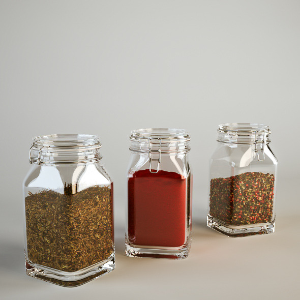 Spice Jars - 3DOcean Item for Sale