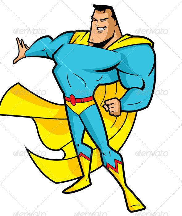 GraphicRiver Big Chin Superhero 2504053