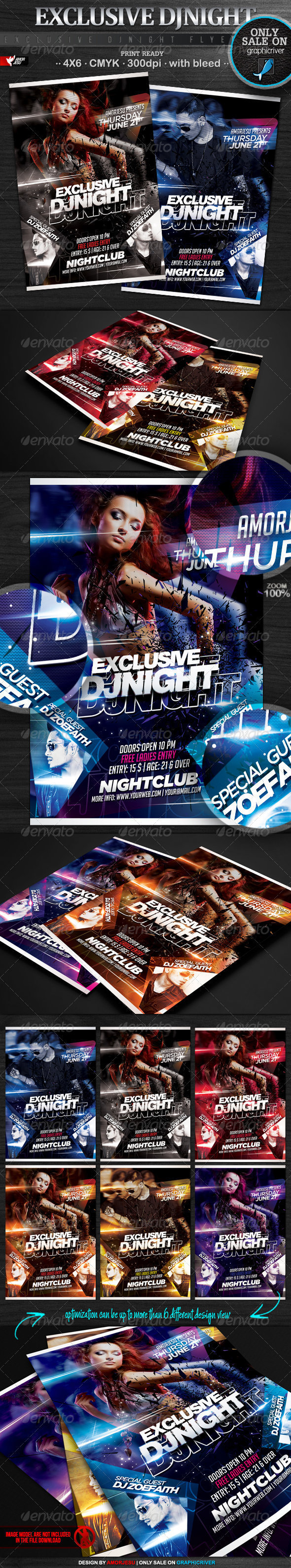Exclusive DJ Flyer Template - Clubs & Parties Events