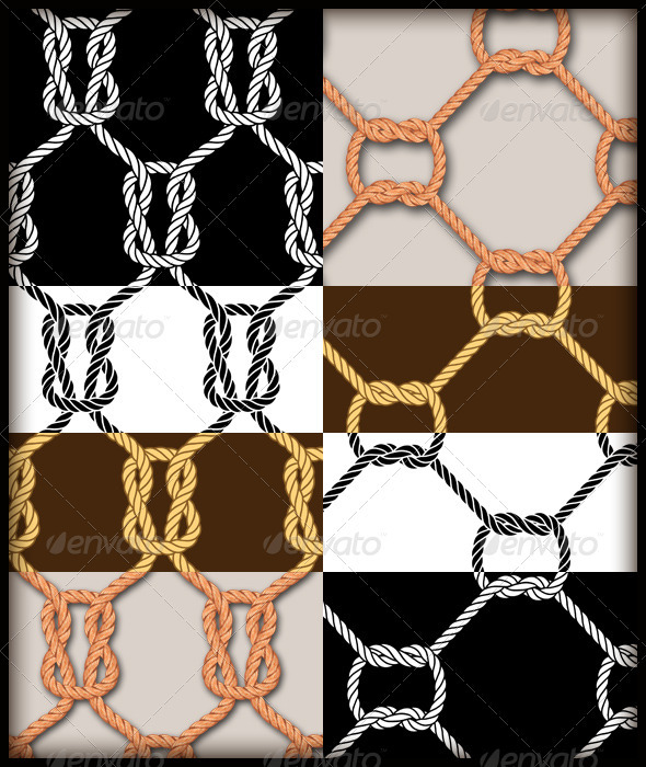 GraphicRiver Rope Knot Seamless Pattern Set 2504211