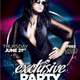 Exclusive Party Flyer Template - GraphicRiver Item for Sale