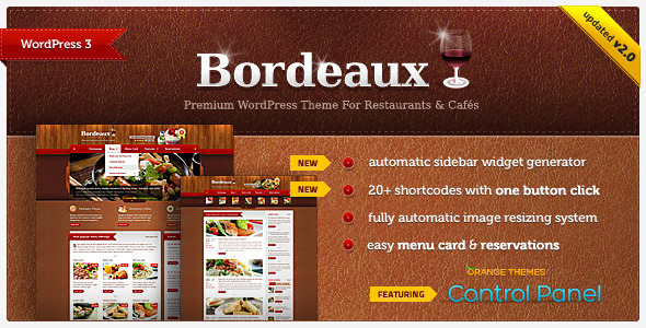 ThemeForest Bordeaux Premium Restaurant Theme 339458