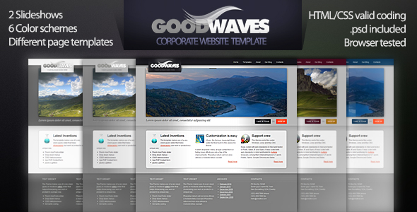 Goodwaves - Business & Product showcase template
