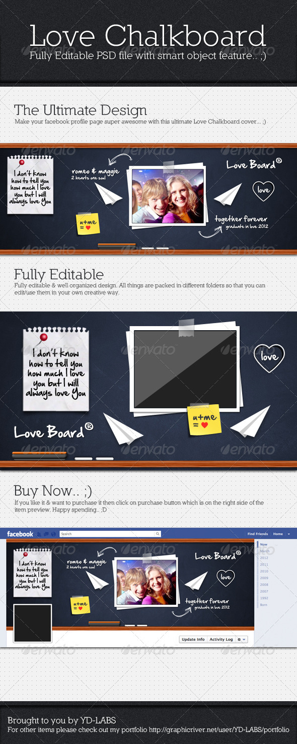 Love Chalkboard - Facebook Timeline Covers Social Media
