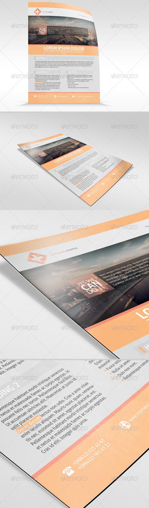 GraphicRiver Sleek Corporate Flyer 2505821