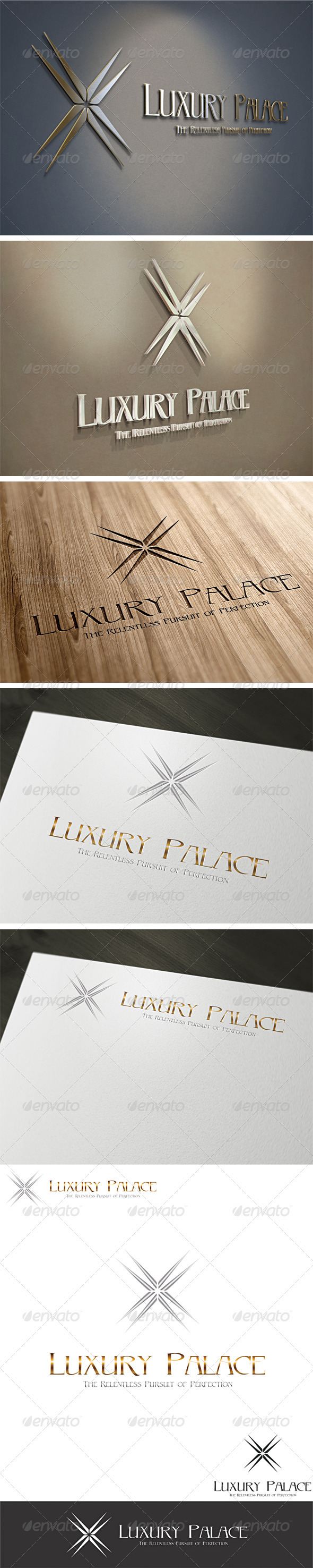 3D Luxury Hotels Logo Template - 3d Abstract