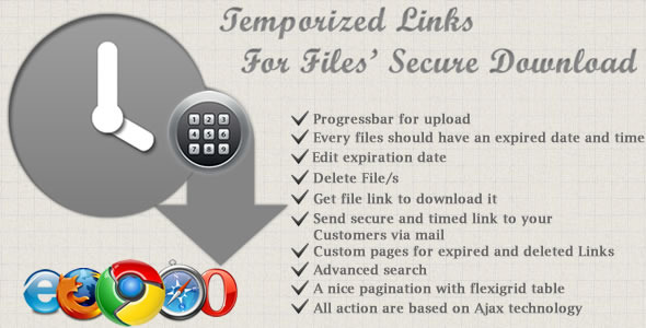Temporized Links For Files' Secure Download - CodeCanyon Item for Sale
