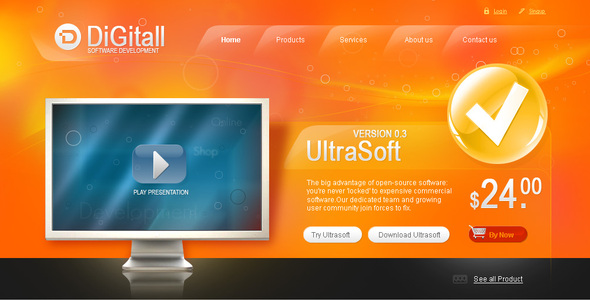 DigitAll - Corporate PSD Templates