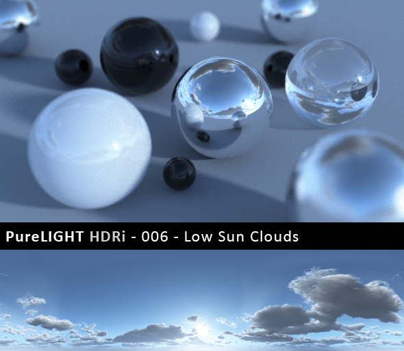 PureLIGHT HDRi 006 - Low Sun Clouds - 3DOcean Item for Sale
