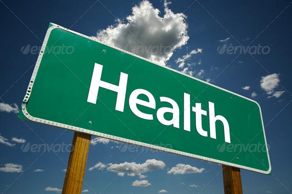 PhotoDune Health Road Sign 281054