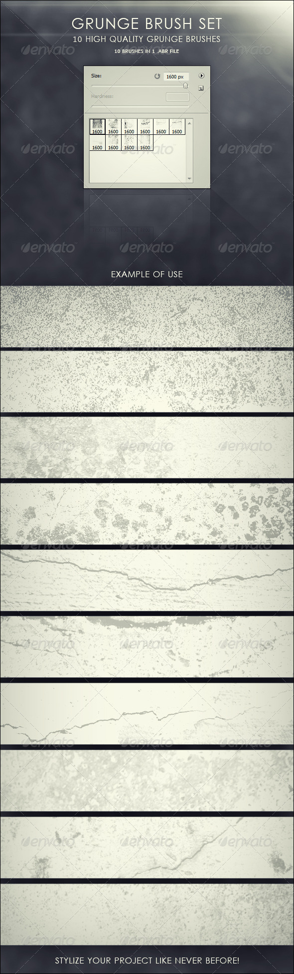 Grunge Brush Set - Grunge Brushes