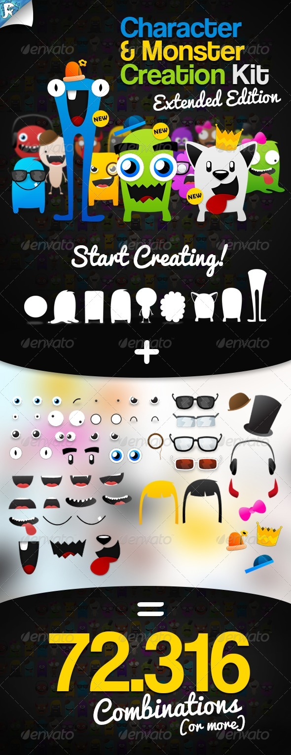 GraphicRiver Character & Monster Creation Kit Create us 115951